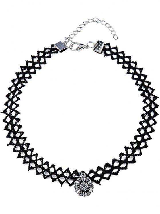 new Rhinestone Tattoo Choker Necklace - BLACK
