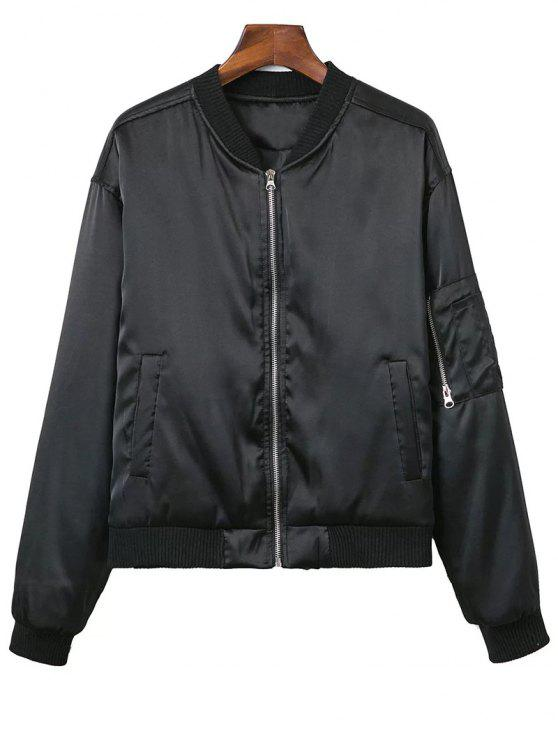 best Zipped Windbreaker Jacket - BLACK L