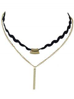 Layered Bar Choker - Golden
