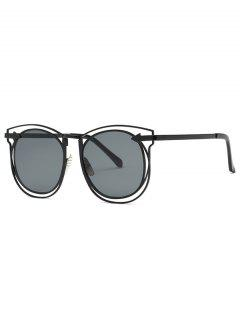 Arrow Hollow Out Black Sunglasses - Black