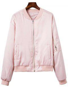 Zipped Windbreaker Jacket - Pink M