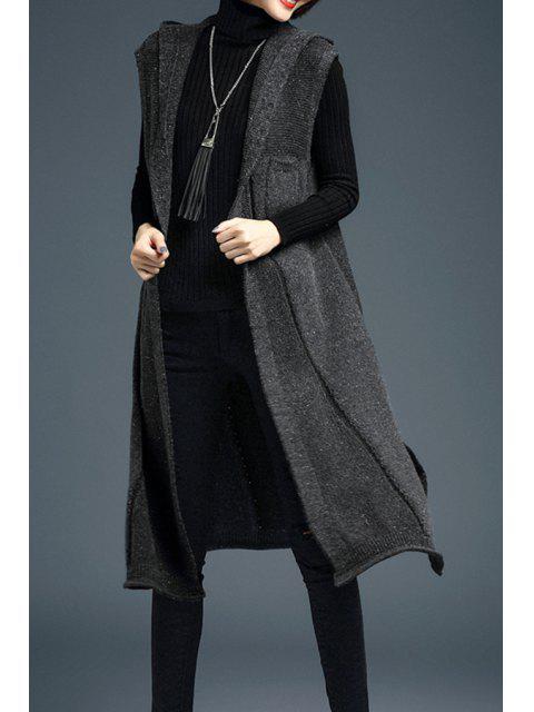 Rendija larga con capucha Chaleco - Gris Un tamaño(Montar tam Mobile