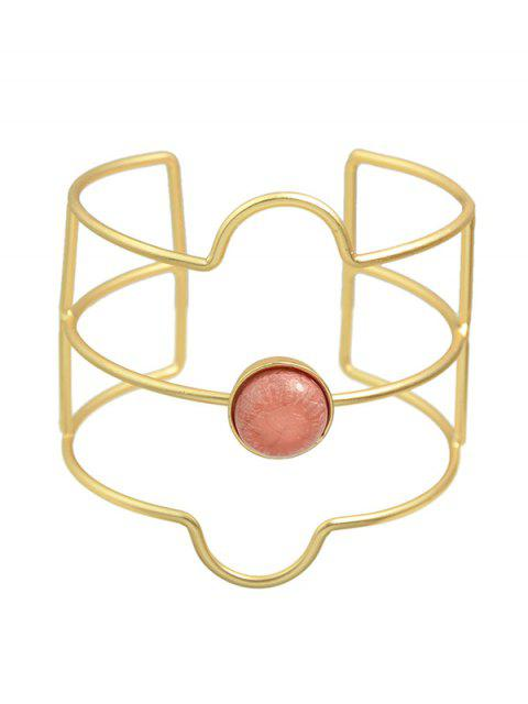 hot Layered Faux Gem Cuff Bracelet - GOLDEN  Mobile