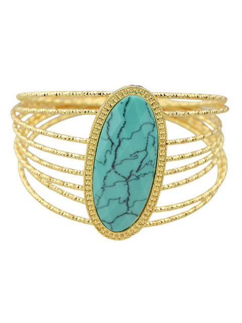 outfit Faux Rammel Layered Oval Bracelet -   Mobile