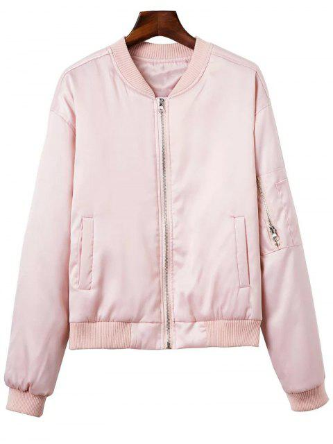 lady Zipped Windbreaker Jacket - PINK XS Mobile