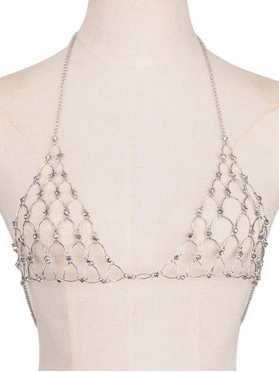 d6f6bbe4ea 19% OFF  2019 Rhinestone Bra Triangle Body Jewelry In SILVER