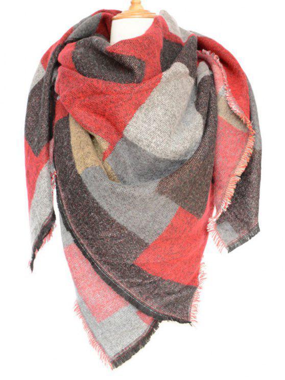 Geometría de la bufanda de invierno - Rojo