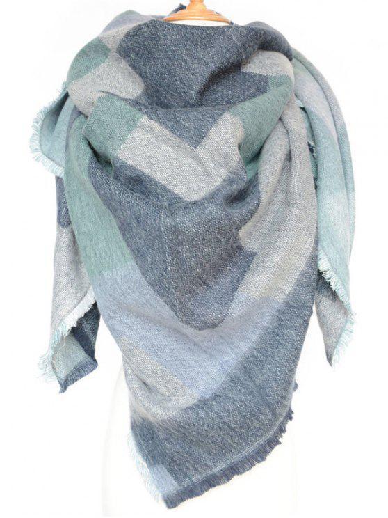 Écharpe d'hiver pour femmes style moderne à motif géométrique - Bleu