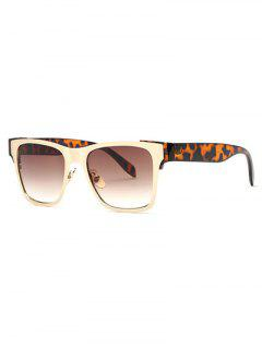 Leopard Leg Wayfarer Sunglasses - Tea-colored