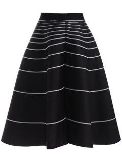 La Raya De La Falda De Talle Alto - Negro
