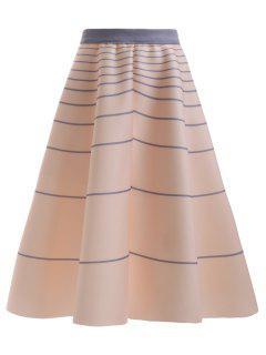 High Waisted Striola Skirt - Apricot