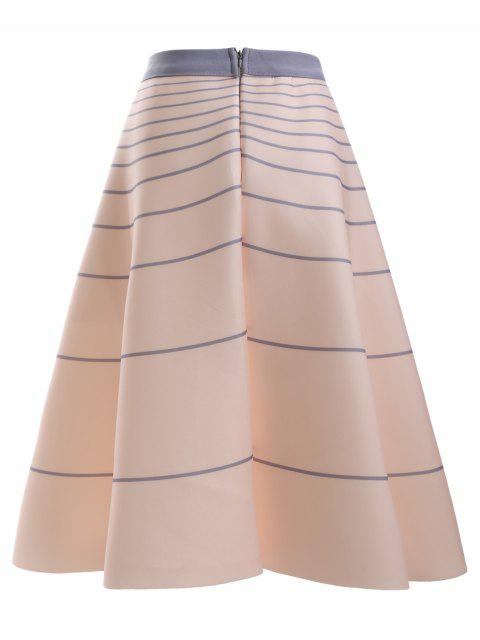 lady High Waisted Striola Skirt - APRICOT ONE SIZE Mobile