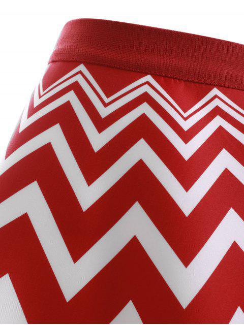 jupe avec des figures de zig zag en forme de a en haute taille pour les femmes rouge et blanc. Black Bedroom Furniture Sets. Home Design Ideas