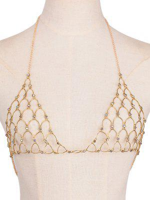 Rhinestone Bra Triangle Body Jewelry