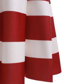 a7c49755f 27% OFF] 2019 High Waisted Stripes Skirt In RED WITH WHITE   ZAFUL