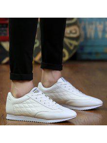 المألوف فحص وتصميم بلون أحذية رياضية للرجال - أبيض 43