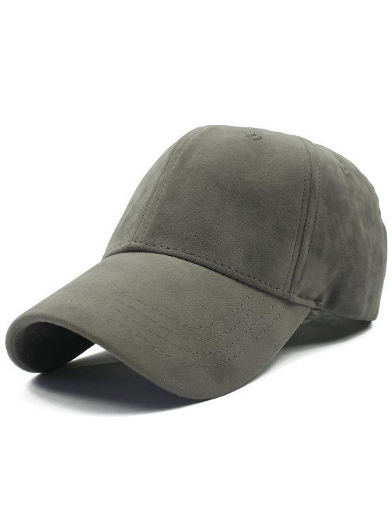 chic casquette de baseball en daim réglable en plaine air - Gris