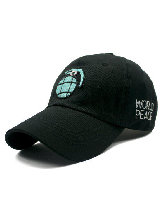 fancy Black Grenade Baseball Hat - BLACK