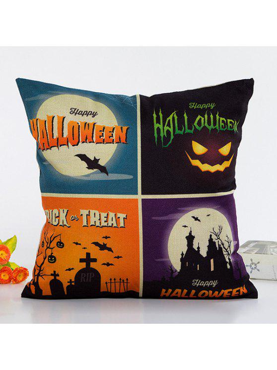 outfit Fashional Halloween Night Plaid Combination Design Pillow Case - COLORMIX