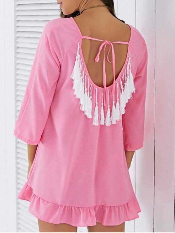Sin respaldo de las borlas del vestido de cambio - Rosa L