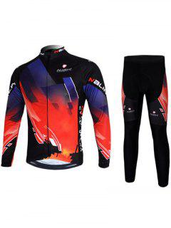 3D Print Long Sleeve Jacket + Leggings Jerseys Twinset For Men - Black S