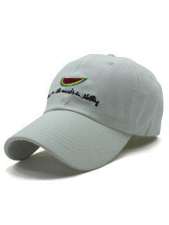 Watermelon Baseball Hat - White