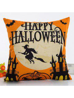 Halloween Series Decorative Throw Pillow Cover - Black And Orange