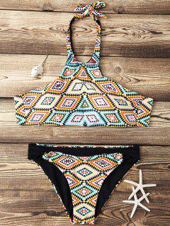 Argyle High Neck Bikini Set - Xl