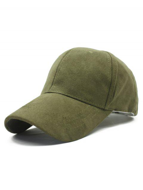 shops Solid Color Faux Suede Baseball Hat -   Mobile