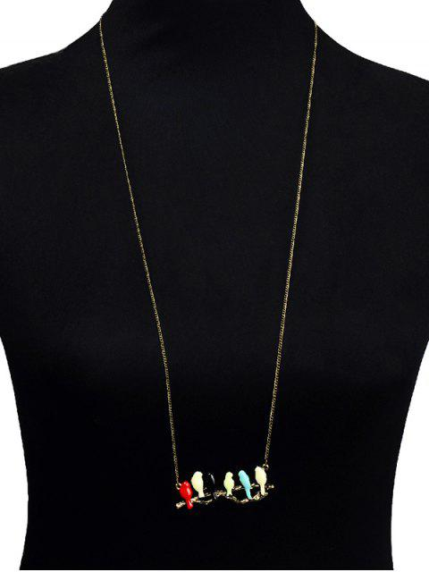 hot Branch Candy Colored Birds Sweater Chain - COLORMIX  Mobile