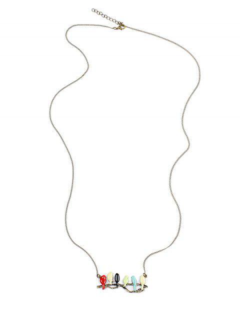 Chaîne de Chandail Motif Oiseaux Couleurs Bonbons sur une Branche - Multicolore  Mobile