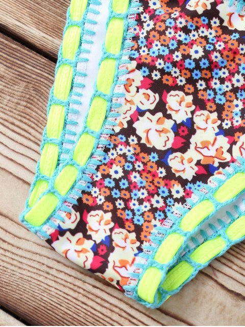 lady Printed Halterneck String Bikini Set - COLORMIX M Mobile