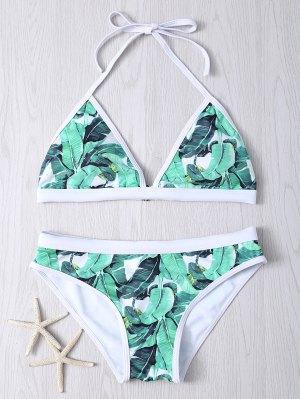 Bikinis à Bretelles Imprimé Plante - Vert 2xl
