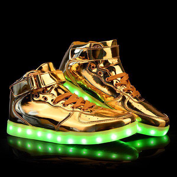 Stylish Tie Up et Lights Up Led Luminous Design Chaussures décontractées pour hommes