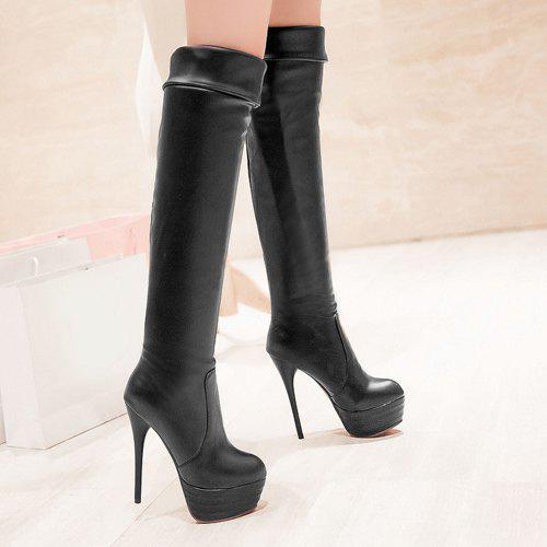 Platform Over The Knee High Heel Boots 192119504
