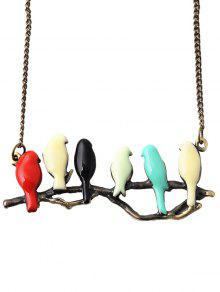Branch Candy Colored Birds Sweater Chain