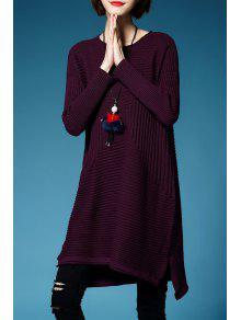 فستان سويت مصغر - أحمر أرجوانى