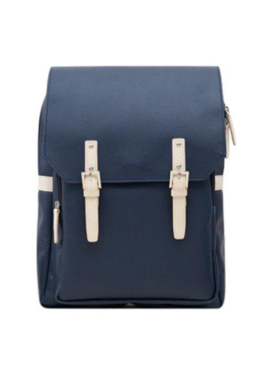 حقيبة الظهر بجلد اصطناعي عصري - الأرجواني الأزرق