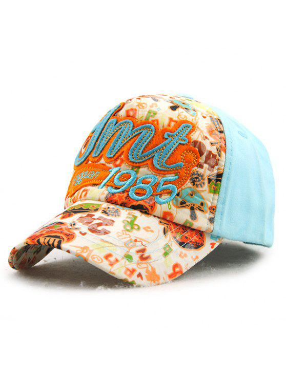 أنيق إلكتروني زين السنة أرقام التطريز خربش نمط قبعة بيسبول للأطفال - الضوء الأزرق