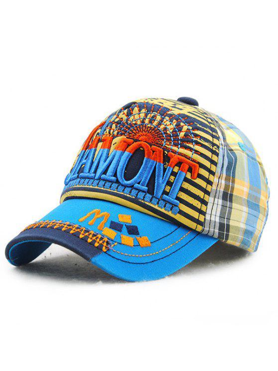 خطابات أنيقة التطريز الشريط والترتان نمط قبعة بيسبول للأطفال - البحيرة الزرقاء