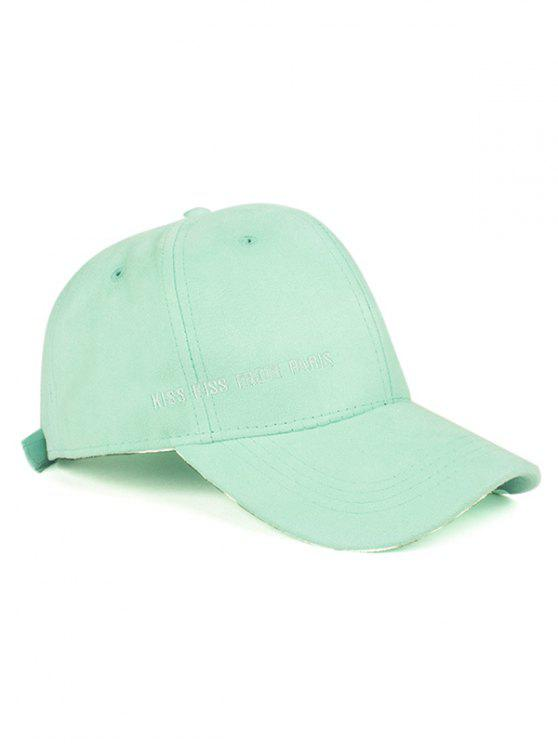 best Letter Embroidery Faux Suede Baseball Hat - MINT GREEN
