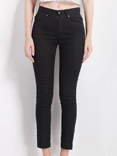 Slimming High Waist Black Pencil Pants - Black S