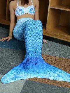 Halter Bikini Mermaid Tail Swimsuit - Azure M