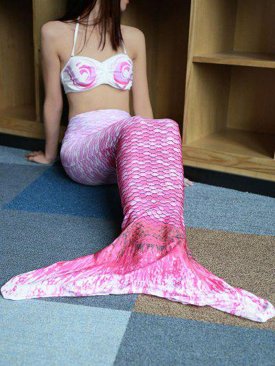 Image of Halter Bikini Top and Colorful Mermaid Tail Two Piece Swimsuit
