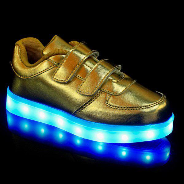 Trendy Couleur Solide et Lights Up Led Design Luminous Souliers simples de Boy