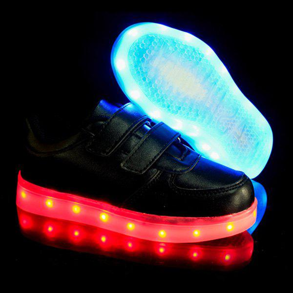 Trendy Couleur Solide et Lights Up Led Design Luminous Souliers simples de Boy