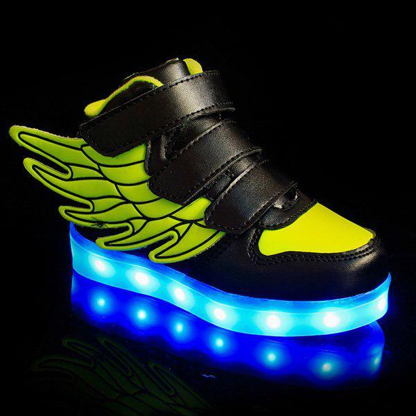 Élégant Lights Up Led lumineux et Wing Design Chaussures Casual Pour Boy