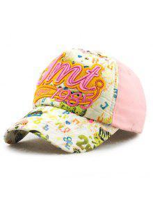 أنيق إلكتروني زين السنة أرقام التطريز خربش نمط قبعة بيسبول للأطفال - زهري