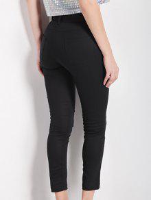 35Off2019 Pantalon Amincissant Haute Taille Noir Crayon Dans H2E9WIYD