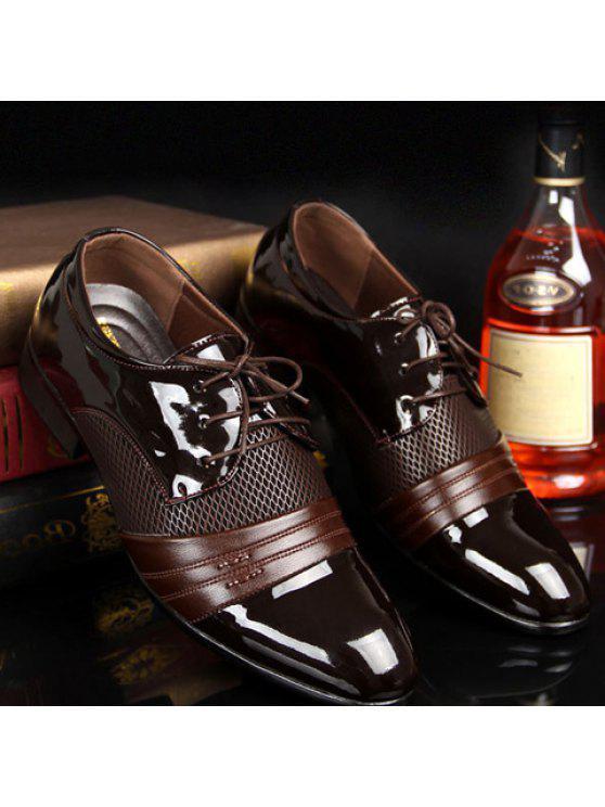 الجوف خارج الدانتيل حتى الأحذية الرسمية - BROWN 42